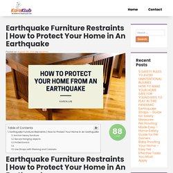 Earthquake Furniture Restraints