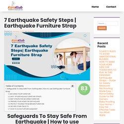 Earthquake Furniture Strap