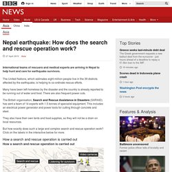 Nepal earthquake: How does the search and rescue operation work?