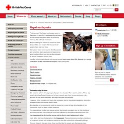 Nepal earthquake - teaching resource