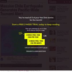 Chile earthquake and tsunami: Hawaii on tsunami alert after 8.3 quake strikes Chile.