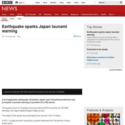 Earthquake sparks Japan tsunami warning