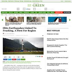 Ohio Earthquakes Linked To Fracking, A First For Region