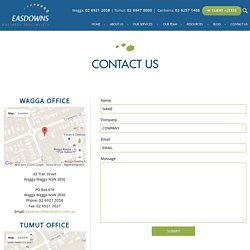 Contact Us Easdowns - Top Financial Advisors in Canberra