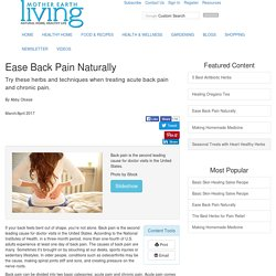 Ease Back Pain Naturally