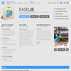 EaselJS | A Javascript library that makes working with the HTML5 Canvas element easy.