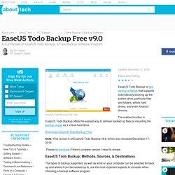 EaseUS Todo Backup Free Review (v9.0)