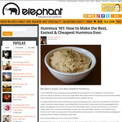Hummus 101: How to Make the Best, Easiest & Cheapest Hummus Ever