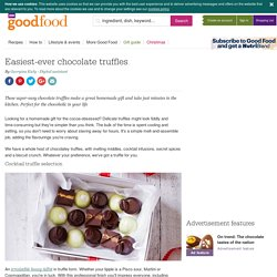 Easiest-ever chocolate truffles