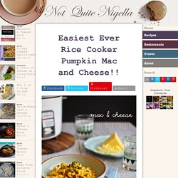 Easiest Ever Rice Cooker Pumpkin Mac and Cheese!!