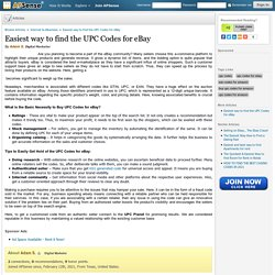 Easiest way to find the UPC Codes for eBay by Adam S.