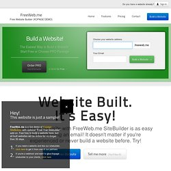 FreeWEB.me - Get a Free Website! Free Site Builder, no HTML knowledge!