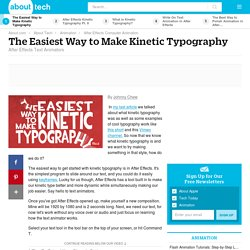 The Easiest Way to Make Kinetic Typography