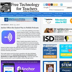 Anchor Offers the Easiest Way to Publish Podcasts