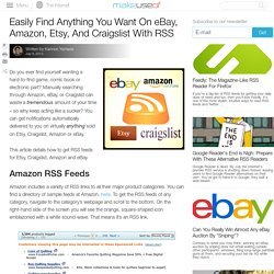 Easily Find Anything You Want On eBay, Amazon, Etsy, And Craigslist With RSS