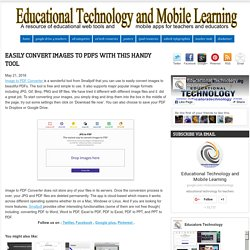 Educational Technology and Mobile Learning: Easily Convert Images to PDFs with This Handy Tool