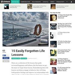 15 Easily Forgotten Life Lessons