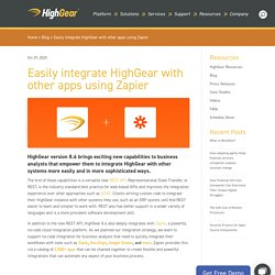 Easily integrate HighGear with other apps using Zapier
