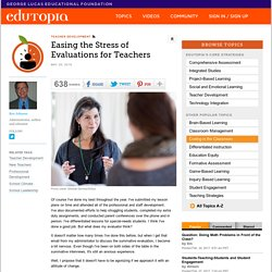 Easing the Stress of Evaluations for Teachers
