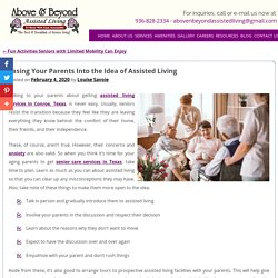 Easing Your Parents Into the Idea of Assisted Living