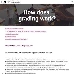 MYP eAssessments - How does grading work?