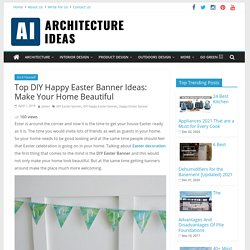 Top DIY Easter Banner Ideas: Make Your Home Beautiful