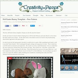 Felt Easter Bunny Template - Free Easter Bunny Pattern
