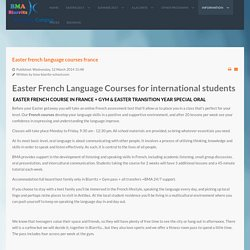 easter french language courses