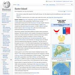 Easter Island - Wikipedia