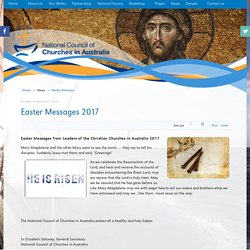 Easter Messages 2017 - NCCA