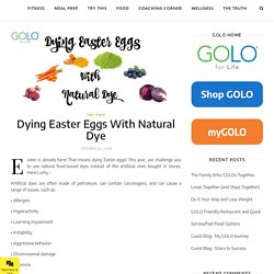 Dying Easter Eggs With Natural Dye