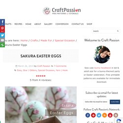 DIY Easter Eggs - Sakura Theme