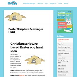 Easter Scripture Scavenger Hunt for Kids