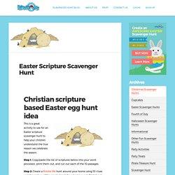 Easter Scripture Scavenger Hunt for Kids