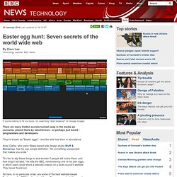 Easter egg hunt: Seven secrets of the world wide web