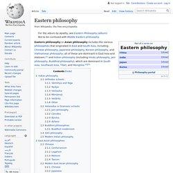 Eastern philosophy - Wikipedia
