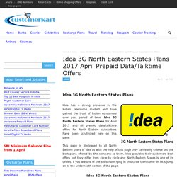 Idea 3G North Eastern States Plans