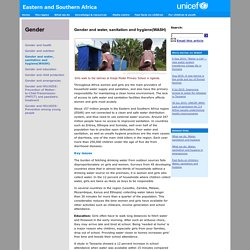 UNICEF Eastern and Southern Africa - Gender - Gender and water, sanitation and hygiene(WASH)