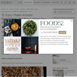15 Easy Make-Ahead Breakfast Recipes