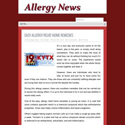 Easy Allergy Relief Home Remedies