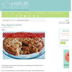 Easy Apple Crumb Pie