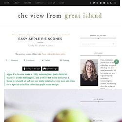 Easy Apple Pie Scones