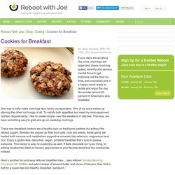 Easy and Awesome Raw Breakfast Cookies