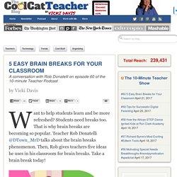 5 Easy Brain Breaks for Your Classroom