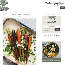 Easy Tea Braised Carrots with Almonds
