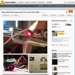 Easy Build Burning Laser For Less Than $20