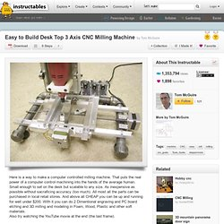 Easy to Build Desk Top 3 Axis CNC Milling Machine