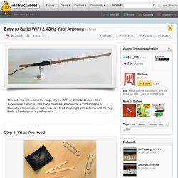 Easy to Build WIFI 2.4GHz Yagi Antenna