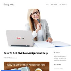 Easy Way To Get Civil Law Assignment Help