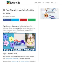 22 Easy Pipe Cleaner Crafts For Kids To Make - Twitchetts